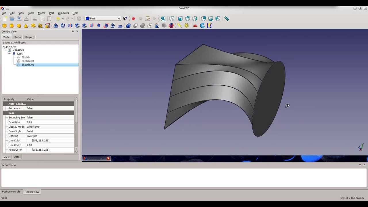 FreeCAD Lofting Sketches by 61quick