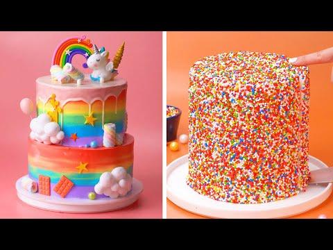 tasty-rainbow-cake-decorating-ideas- -awesome-diy-homemade-cake-recipes- -so-yummy-cake