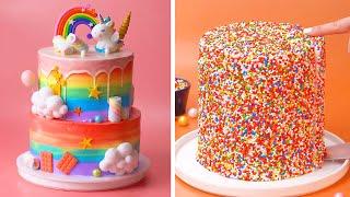 Tasty Rainbow Cake Decorating Ideas | Awesome DIY Homemade Cake Recipes | So Yummy Cake