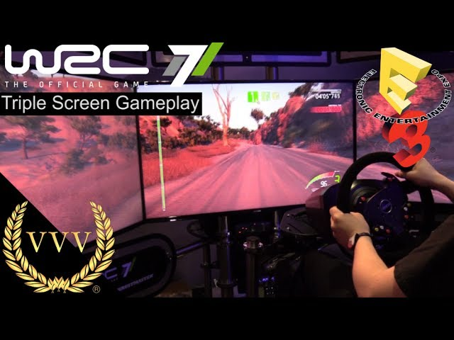 WRC 7 - Triple Screen Gameplay, Mexico