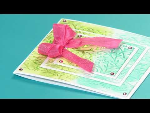 DIY Sizzix Texture Boutique Value Kit Flower Embellishment Card