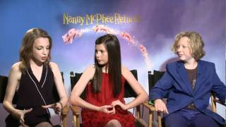 nanny mcphee returns   interviews with maggie gyllenhaal and lil woods