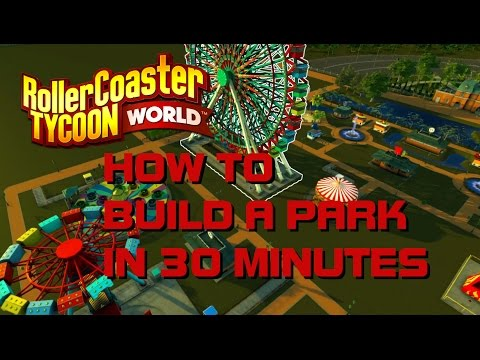 Rollercoaster Tycoon World: Build a park in 30 minutes (RCTW) Early Access