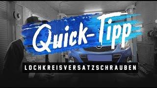 HOLYHALL| QUICK-TIPP | LOCHKREISVERSATZSCHRAUBEN