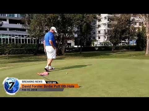 6th Hole Birdie Putt Asia Pattaya Golf Course Thailand