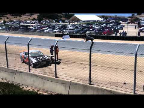 Mazda Raceway Grand-Am Continental Tire Race Crash