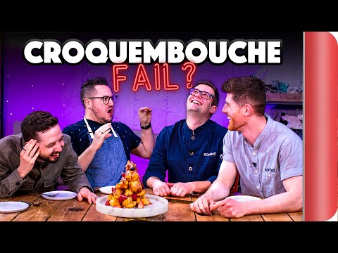 CROQUEMBOUCHE (Profiterole Tower) Recipe Relay Challenge!! | Pass It On S2 E8