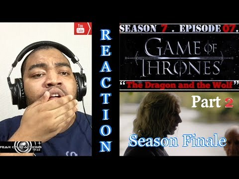 "Game of Thrones 7x07 ""The Dragon and the Wolf"" (Season Finale Pt. 2/2) REACTION"