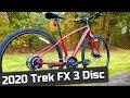 An Awesome Hybrid - 2020 Trek FX 3 Disc Flat Bar Hybrid, Commuter Bike Feature Review and Weight