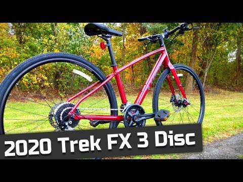 An Awesome Hybrid 2020 Trek FX 3 Disc Flat Bar Hybrid, Commuter Bike Feature Review and Weight