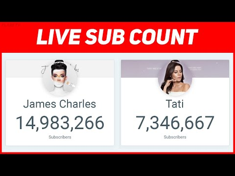 JAMES CHARLES VS TATI LIVE SUB COUNT Mp3