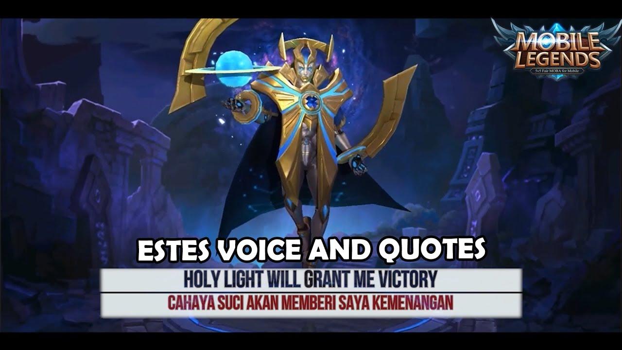 Dan inilah arti dari kata kata yang diucapkan Estes di game Mobile Legends   YouTube