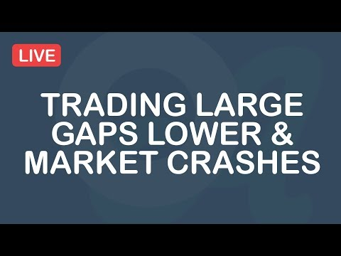 Trading Large Gaps Lower & Market Crashes