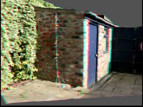 Anaglyph Rendering of Stereopsis Output of a Shed
