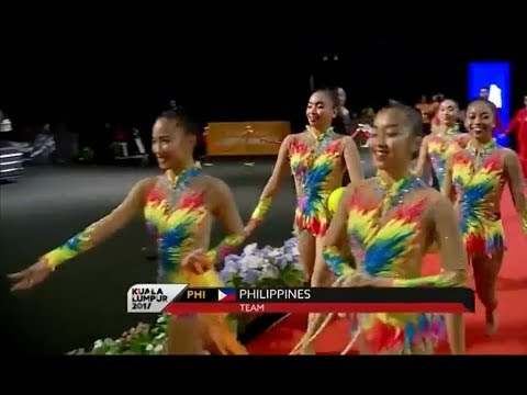Philippines - Rhythmic Gymnastics Mixed Appratus 2 Ropes 3 Balls | Sea Games 2017