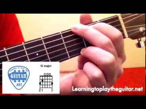 How To Play E Minor & G Major Chords - Learning To Play The Guitar