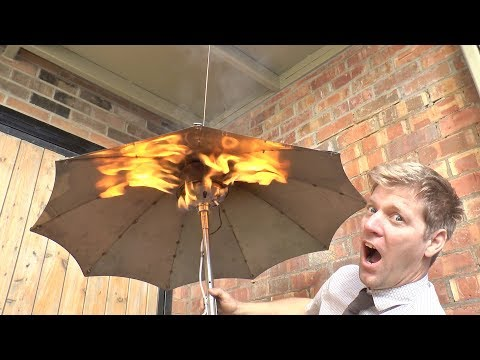 Gas Heated Umbrella - Because British Weather