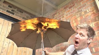Gas Heated Umbrella - Because British Weat