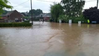 Inondation à Ere région de Tournai le 07.06.2016