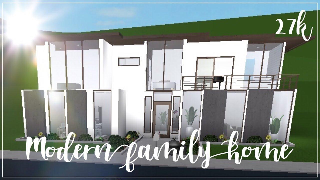 Roblox Bloxburg Modern Family Home 27k Youtube