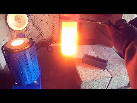 Making a Copper Ingot from Scrap Wire
