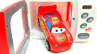 DIY How to Make Car Lightning Mcqueen in Microwave Just Like Home Toy Create Cars 3 Kinetic Sand