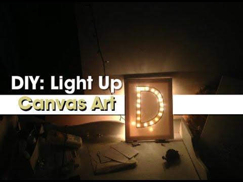 Gift Idea Diy Light Up Canvas Art Youtube