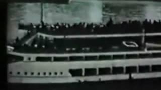 satmar rebbe r yoel teitelbaum zt l historical trip to israel on ship thousands at kabulas punim