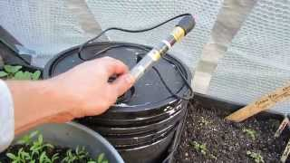 Fall Gardening: Managing Heat in a Pop Up Greenhouse & Transplants 3 of 6 - TRG 2014