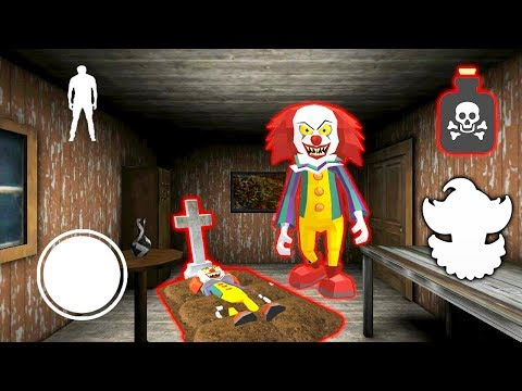 видео: КЛОУН ПЕННИВАЙЗ ГРОХНУЛ ДРУГА СОСЕД ГРЕННИ - Clown Neighbor 2 Granny Escape