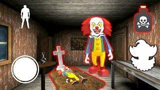 КЛОУН ПЕННИВАЙЗ ГРОХНУЛ ДРУГА СОСЕД ГРЕННИ - Clown Neighbor 2 Granny Escape