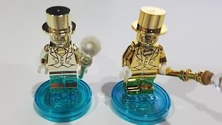 Lego Real Mr Gold Compared to Fake Chinese Mr Gold Minifigure