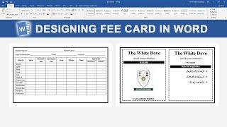 Gambar cover Creating Fee Card In Word