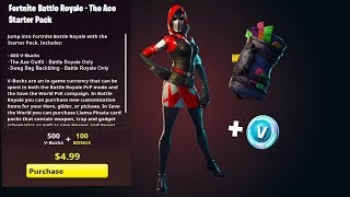 THE STARTER PACK 3 FROM FORTNITE! HOME PACK 3 IN FORTNITE THIS IS THE SKIN!