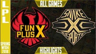 FPX vs SS Highlights ALL GAMES | LPL Spring 2018 S8 W1D4 | Funplus Phoenix vs Snake Esports