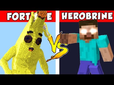 FORTNITE vs HEROBRINE – PvZ vs Minecraft vs Smash