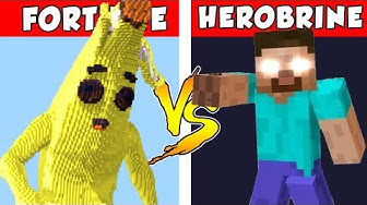 FORTNITE vs HEROBRINE – PvZ vs Minecraft vs Smash