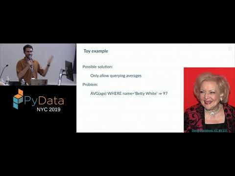 Joshua Falk: Generating Realistic, Differentially Private Data Sets Using GANs | PyData NYC 2019
