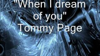 When i dream of you   Tommy Page