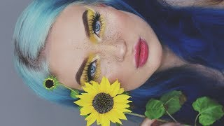 a makeup look inspired by my sunflower Giacomo 🌻
