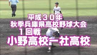 2018年秋季兵庫県高校野球《小野高校vs社高校》MAX146K藤本対小野高校打線