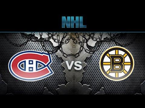 NHL 17 Boston Bruins Vs Montreal Canadians Gameplay