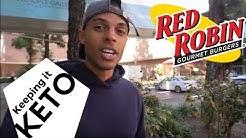 KEEPING IT KETO AT RED ROBIN