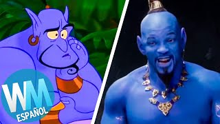 ¡Top 10 Peores CAMBIOS en Remakes LIVE ACTION de DISNEY!