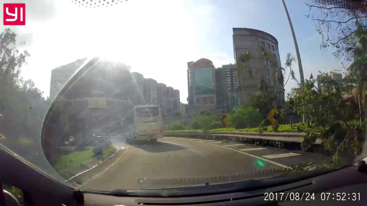 颱風「天鴿」後澳門道路情況 - YouTube