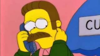 The Simpsons - Ned Flanders vs. Jimbo, Kerney, & Dolph