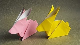 Origami Rabbit Tutorial 摺紙兔教學 ( Kade Chan )