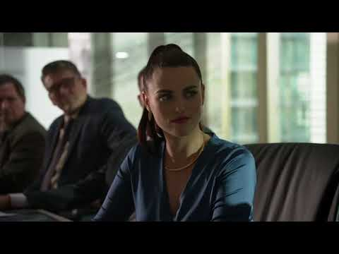 Supergirl 3x01  Lena Luthor and James Olsen at Morgan Edge's Meeting