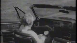 1965 Ford promo film- Experimental 'Wrist-Twist' steering control on a Mercury Park Lane convertible