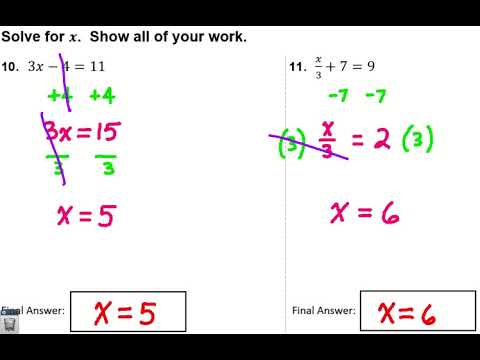 Integrated Math I - Chapter 2 Review for Quiz